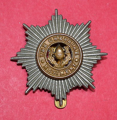 BRITISH ARMY CAP BADGE -  Bi/M - CHESHIRE REGIMENT