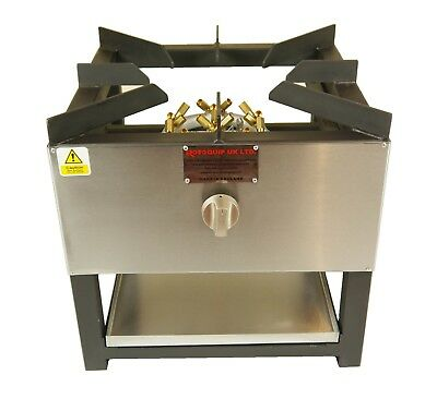 COMMERCIAL STOCKPOT COOKER / WOK 20 JET BURNER 500 x 500 NATURAL OR BOTTLE GAS