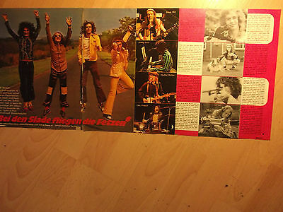 3 german clipping SLADE NOT SHIRTLESS 70s POP ROCK GLAM BOY BAND BOY TEEN IDOL
