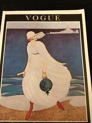 RARE Beautiful VOGUE Poster Cover Lady Mount St. Michael Island
