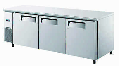 Brand New Commercial Catering Kitchen Three Door Freezer Prep Counter Table