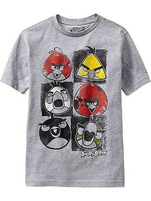 63d6bb89 NWT Old Navy Boys Angry Birds Graphic Tees T-Shirt Shirt NEW L 10 12