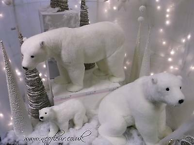 Large & Med Polar Bears. Corporate & Retail Christmas Grotto display, 4 sizes