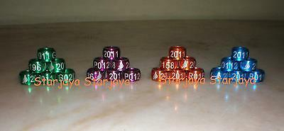 Personalise Customise Pigeon Dove Bands Rings 100 pcs