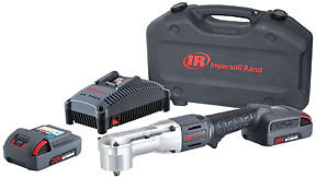 """Ingersoll Rand 20V IQV 3/8"""" Right Angle Impact Wrench Kit 180ft lbs IR W5330-K22"""