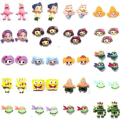 NICKELODEON CHARACTER Resin Flatback Cabochons Embellishments (You Chose Style)