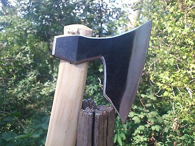 VIKING  FORGED HATCHET AXE CAMPING / SURVIVAL TOOL 10.93oz Small Size / Handmade
