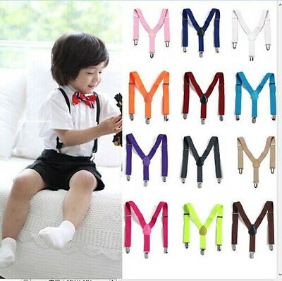 Adjustable Brace 1PCS Children Kids Boy Girls Toddler Clip-on Suspenders Elastic
