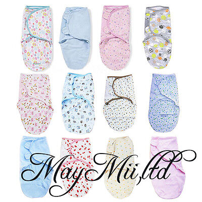 100% Cotton newborn Baby Infant Swaddle Easy Wrap Swaddling Blanket 0-3 Months N