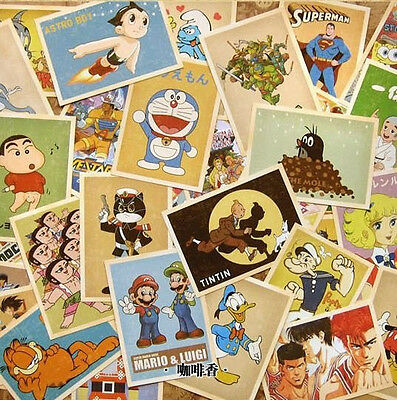 """Lots of 32 Vintage 80s kids anime Postcards 4x6"""" photo picture poster print 104"""