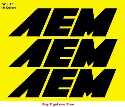 AEM Racing Decals Stickers 4-3//4 Inches Long Size Set of 2