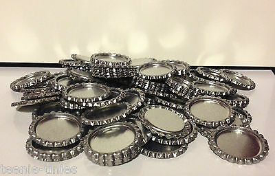 Wholesale/Bargin packs of flat chrome bottle caps and epoxy domes/dots