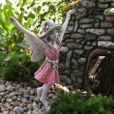 "3.75"" My Fairy Gardens Mini Figure Pick - Lexi in Summer Dress and Hat Figurine"