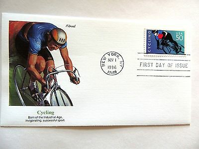 "November 1st, 1999 ""Cycling"" First Day Issue Lot #1"