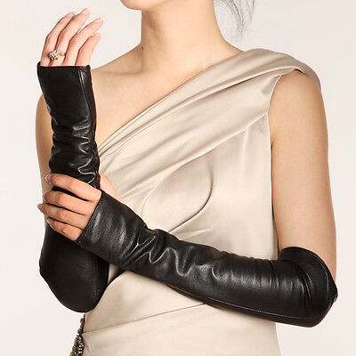 Ladies Woman Genuine Nappa Leather Opera Long  Party Evening Gloves On Sale #070