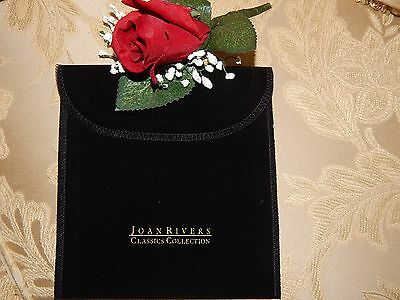 """JOAN RIVERS 6"""" X 6"""" NEW CLASSIC COLLECTIONS JEWELRY POUCH"""