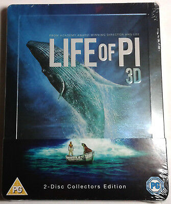 LIFE OF PI 3D (and 2D) Brand New BLU-RAY STEELBOOK 2-Disc Collector's Edition