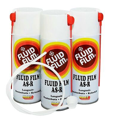 Hodt Fluid Film AS R 26,08€/L  Nas Spray+Düse 60cm 3 x400ml Hohlraumschutz
