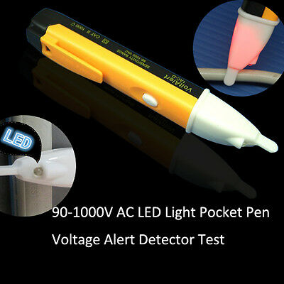AC 90~1000V Non-Contact Electric Voltage Alert Detector Tester Test Pen New