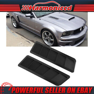 Brand New Universal Black Hood Vent Louver 17x5 Inches