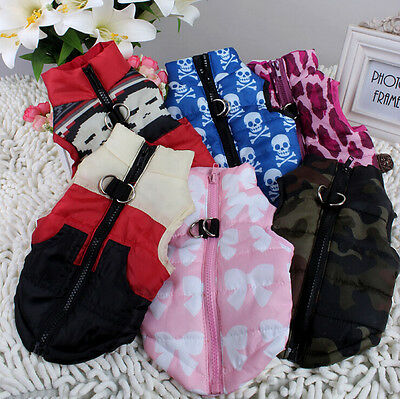 Free Shipping 6 color Pet Cat Dog Coat Clothes Soft Padded Vest Harness Puppy