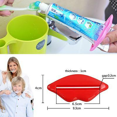 1 Red +1 Pink Lip Toothpaste Facial Foam mildy wash Squeezer Tube Dispenser