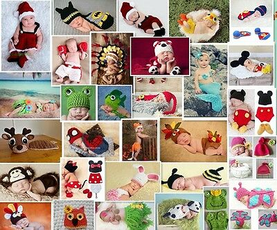 New Hot Cute Girls Boy Baby-Knit Crochet Handwork Clothes Photo Prop Outfits