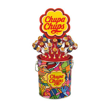 CHUPA CHUPS LATTA 150 PZ. ESPOSITORE Lecca Lecca ORIGINALI Gusti Assortiti Party