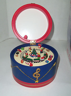 Mr Christmas Animated Wood Drum Music Box Nutcracker Suite March