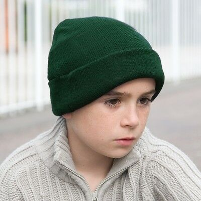 KIDS CHILDRENS KNITTED WOOLLY HAT 6 Cols STRETCH BEANIE WINTER WARM BOYS GIRLS