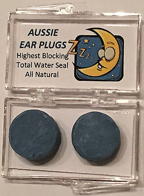 SNORING - Ear Plugs - Custom Moulded (1 Pair) - 34dB NRR SLEEP NOISE BLOCK CPAP