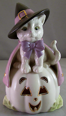 Lenox Hocus Pocus Cat White Kitten Halloween Thanksgiving Figurine Retired New