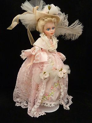"17"" Porcelain Doll Exquisite Pink Articulating Limbs"