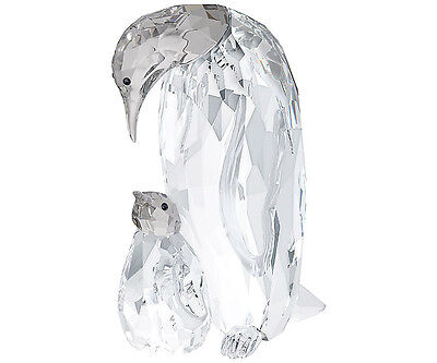 Swarovski Crystal PENGUIN MOTHER With BABY 5043728 New 2014