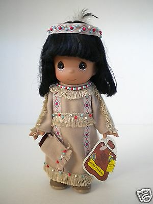Precious Moments Morning Glory Native American Indian Doll Children of World 9""