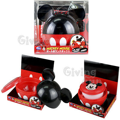 GENUINE Disney Mickey Mouse School Bento Lunch Box Food Container w/ Bag for Kid