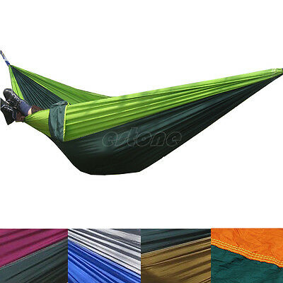 Portable Parachute Nylon Fabric Hammock for two persons Travel Camping Hammock
