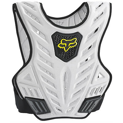 Fox Racing NEW Mx Titan Sport Subframe Silver Padded Vest Motocross Body Armour