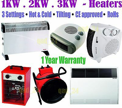 Heaters / Electric Thermostat Portable Wall Mount 750W 1250W 2000W 3000W 2Kw 3Kw