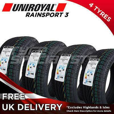 4x new 225 40 18 uniroyal rainsport 3 92y xl 225 40r18 4 tyres max wet grip eur 291 27. Black Bedroom Furniture Sets. Home Design Ideas