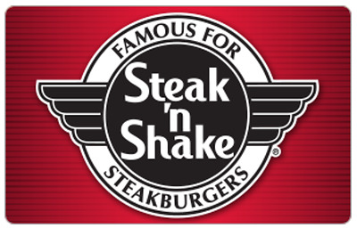 Steak 'n Shake Gift Card -$25 $50 $100 - Email delivery