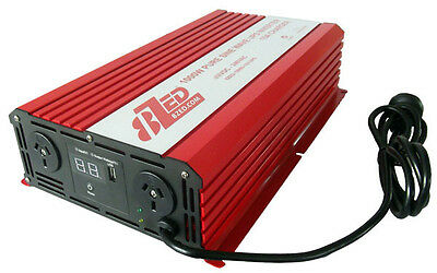 Pure Sine Wave Inverter Charger - 1000W 12V 8ZED Auto Change Over + Remote NEW