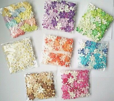 100 Blossom Flower Mulberry paper Wedding Scrapbooking Card Crafts DIY  2 cm