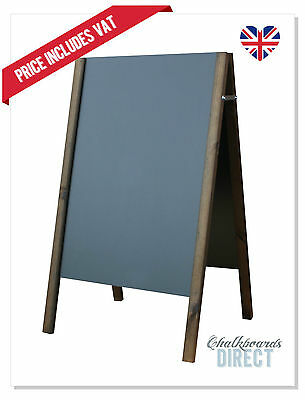 Large Eco Wooden A Board Pavement Sign Menu Board Chalkboard (Ecol)