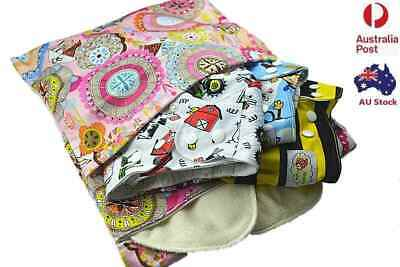 Baby Wet Diaper Nappy Bag Zip Reusable Waterproof Swimmer Twin Zipper Tote