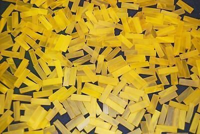 """100 1/4"""" Pineapple Yellow Tumbled Border Stained Glass Mosaic Tiles"""