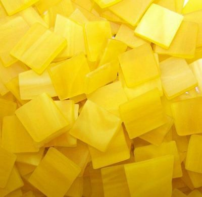 "100 1/2"" Pineapple Yellow Tumbled Stained Glass Mosaic Tiles"