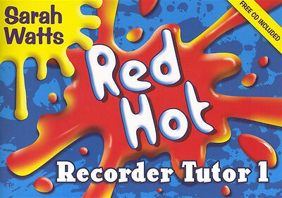 Red Hot Recorder Tutor 1 Student Book CD Sheet Music Learn To Play Easy Beginner