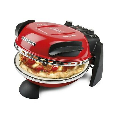 G3-Ferrari Pizza-Ofen Pizza-Maker Express Italy Pizza in 3 min. fertig Rot NEU