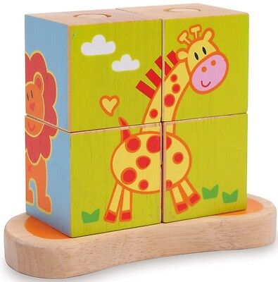 Cube A Formes Animaux  -  Ref 3362